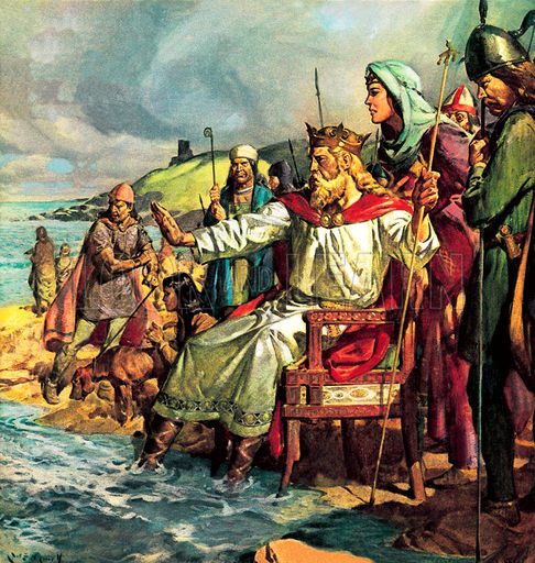 King Canute Defies the Waves